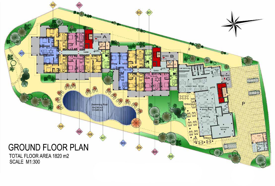 Dream holiday apartment complex ravda south seaside for Apartment complex floor plans
